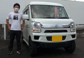 ◆本日の納車 エブリイワゴンJPターボ4WDリフトアップカスタムコンプリート