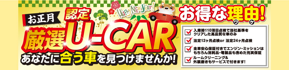 厳選 認定U-CAR